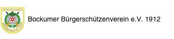 Bockumer Bürgerschützenverein e.V. 1912 Logo